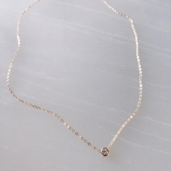 one stone necklace(cz)