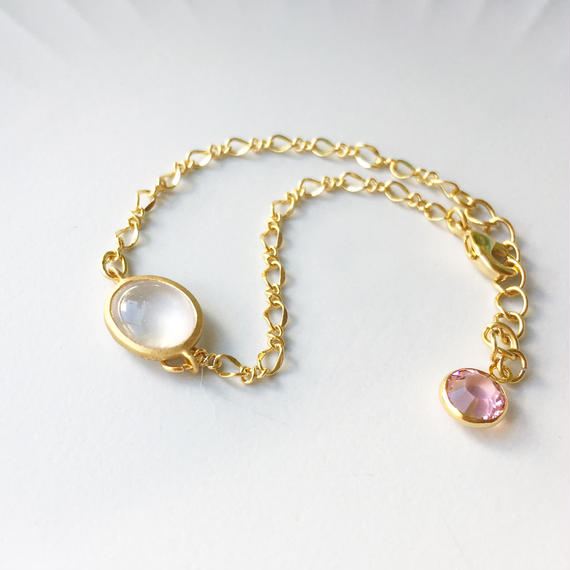 Rose quartz  Candy  Bracelet