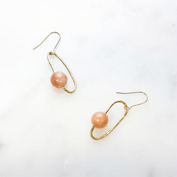 Uranus Gemstone Earrings (Sunstone)