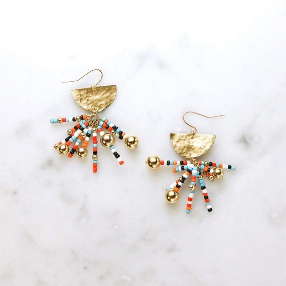 Ethnic Brass Earring