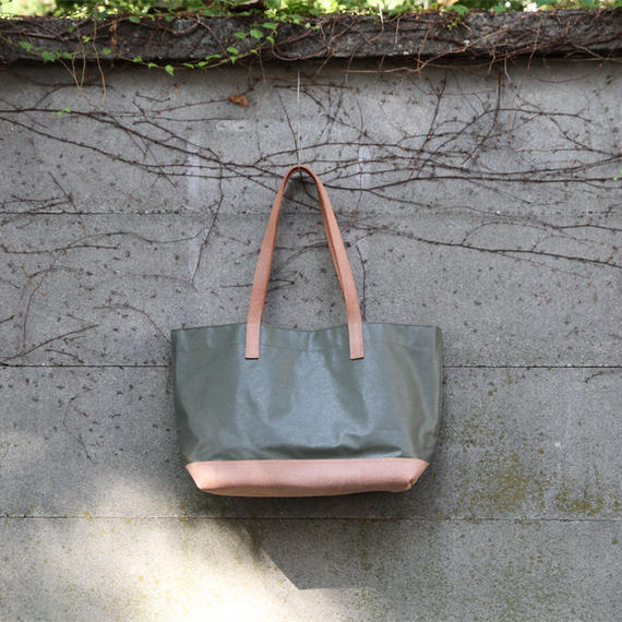 tote bag (L) - khaki