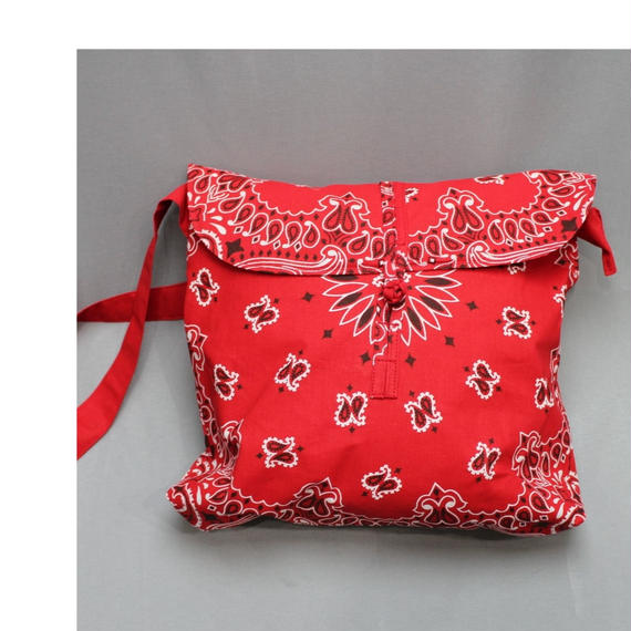 INFIELDER DESIGN Bandana Shoeder Bag -RED,WHITE-