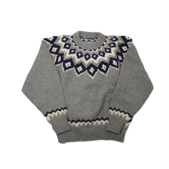 DEAD STOCK NORDIC SWEATER GREY - onesize