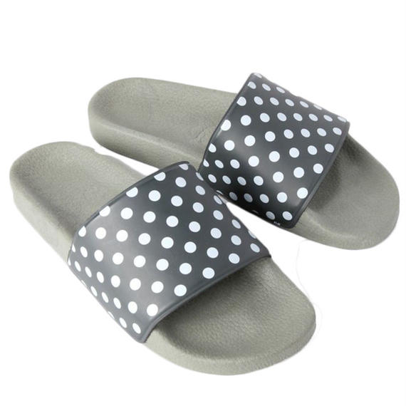 NEEDLES -  POLKA DOT SLIDE SANDAL -OLIVE