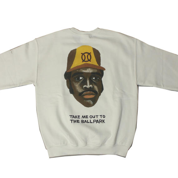 ball park  sweat Tee -WHITE-  (TAMANIWA ×SHUNTARO TAKEUCHI)