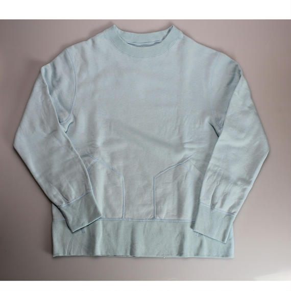 SANCA    吊り裏毛CREW SWEAT BLUE -size4-