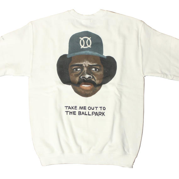 ball park  sweat Tee OZZIE -WHITE-  (TAMANIWA ×SUNTARO TAKEUCHI)