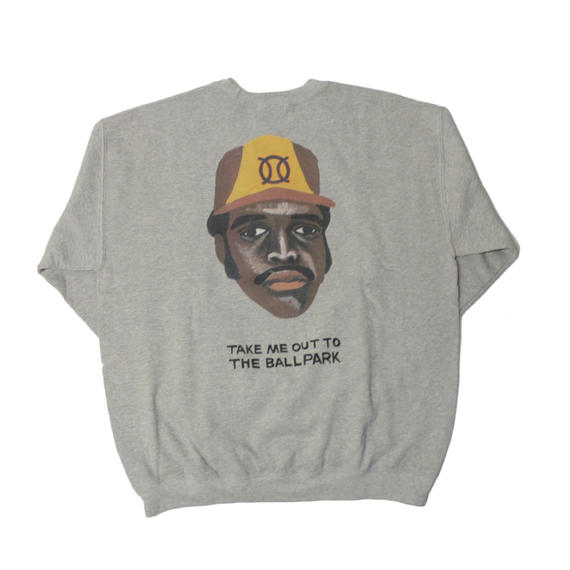 ball park  sweat Tee TONY -GREY-  (TAMANIWA ×SUNTARO TAKEUCHI)