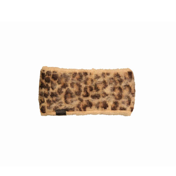 INFIELDER DESIGN       ANIMAL MOHAIR HEADBAND-LEO