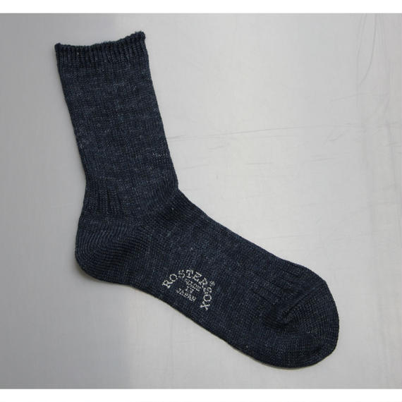 ROSTER SOX SHANGRI-LA RIB SOCKS  (INDIGO,BLUE)