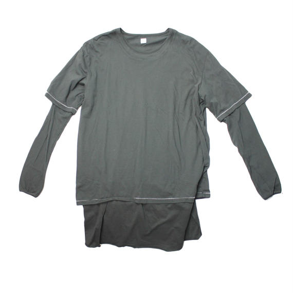 RYU cotton layered shirt -black - size 4