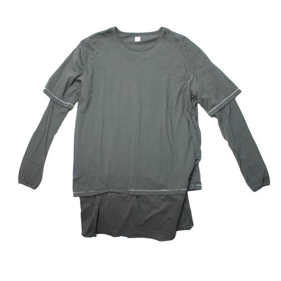 RYU cotton layered shirt -black - size 4