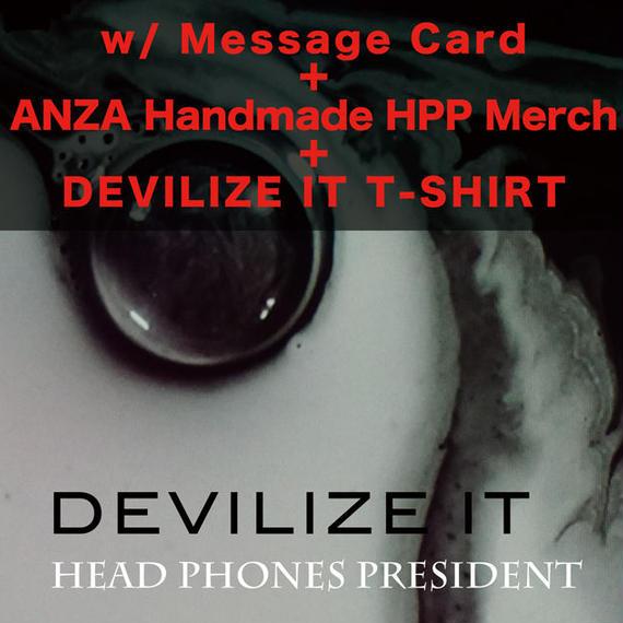 DEVILIZE IT <2CD + Photo Book> w/ Message Card, Anza Handmade HPP Merchandise & DEVILIZE IT T-SHIRT