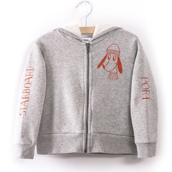 40%OFF!【Bobo Choses】HOODED SWEATSHIRT BOW LOUP DE MER(フード付きパーカー)