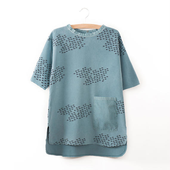 40%OFF!【Bobo Choses】POCKET DRESS FLOCKS AO(ポケット付きワンピース)