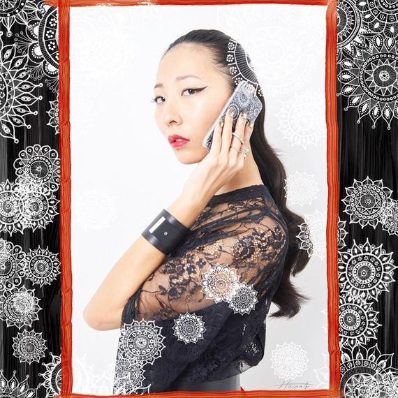 ハードケース iPhone8/7/6s/6 flower lace