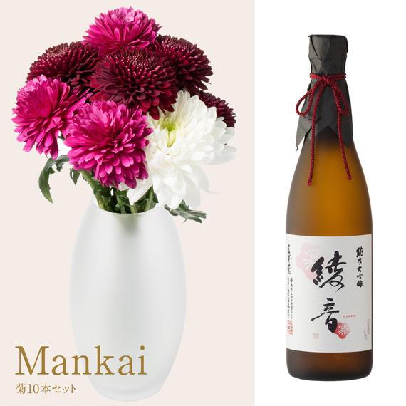 菊と酒 HanaVi -MANKAI-シックレッド系×三芳菊【純米大吟醸】