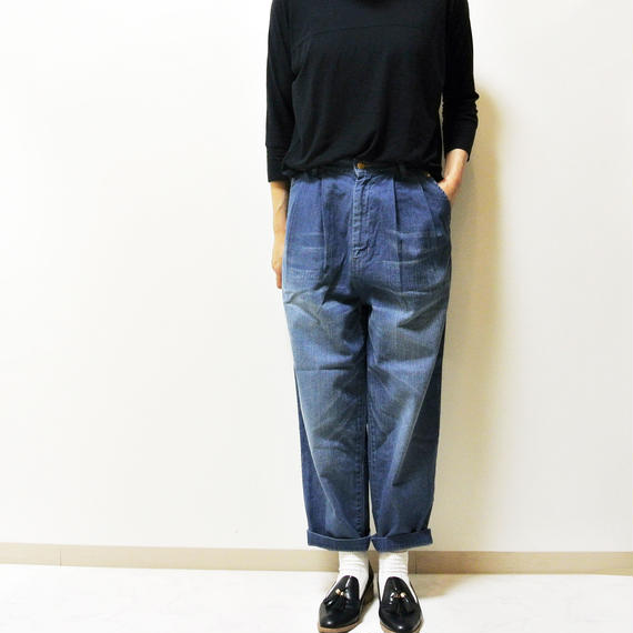 EGG TUCKED DENIM PANTS A11605_94