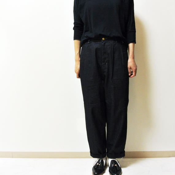 EGG TUCKED DENIM PANTS A11605_98