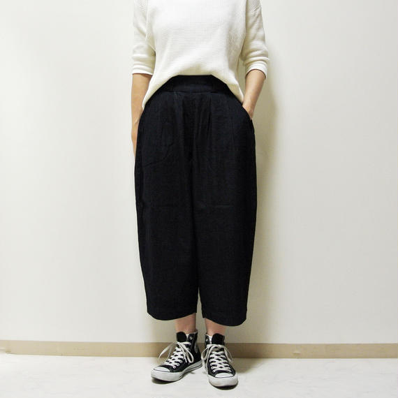 DENIM WIDE EGG PANTS  A21701
