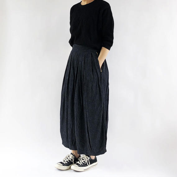 COTTON/LINEN DENIM CIRCUS CULOTTES(綿麻デニムサーカスキュロット)A21706