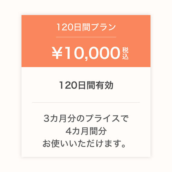 #Likes ご利用サービス料(120日間)