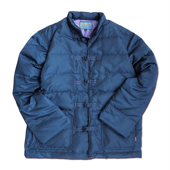 INDIGO NYLON KUNG-FU DOWN JACKET