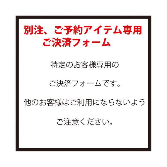特定のお客様専用ご決済フォーム(1)