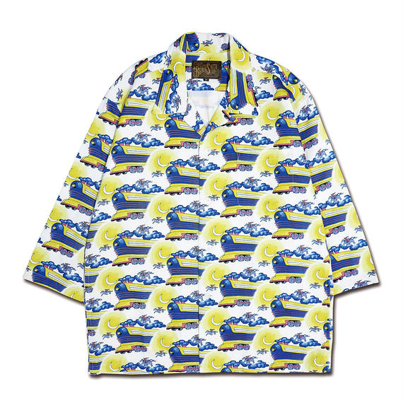 FLYING FUTURE TRAIN ALOHA SHIRTS