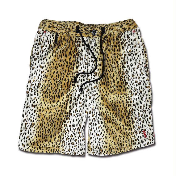 MICRO MOUTON LEOPARD SKATE SHORT PANTS