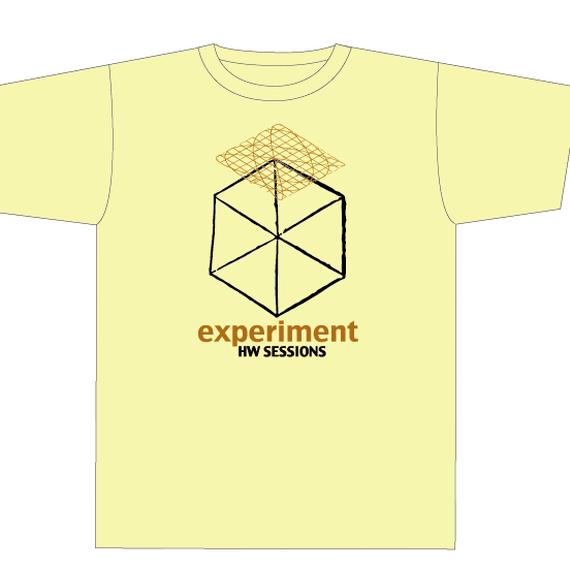 experiment  Tシャツ/ライトイエロー Lサイズのみ(1190-LY4-L)