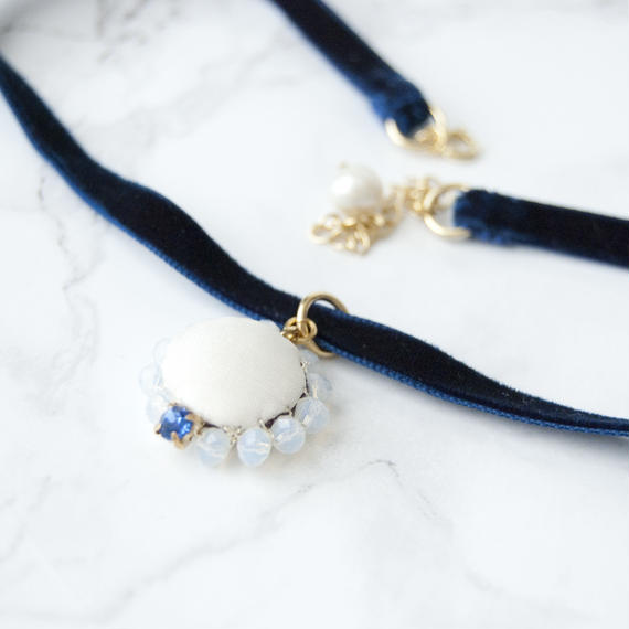 Flowing  Planet Choker - BLUE