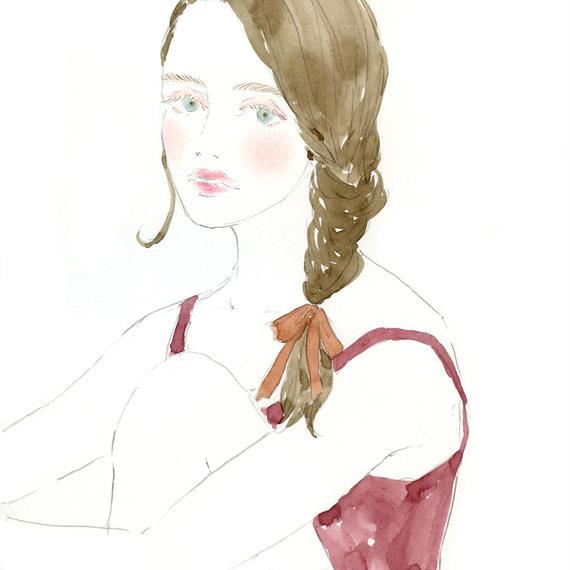 A braid girl   /  FINE ART PRINT A4(NO FRAME)