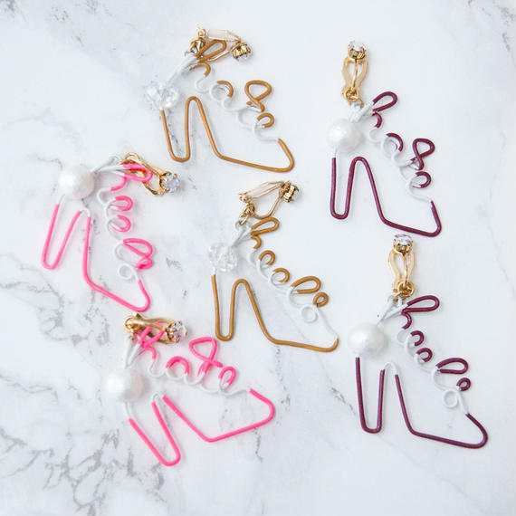Arty Wire Pierced Earrings 2016 FW collection - hate heels  EARRING