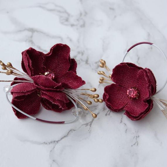 rakka ryuusui colour  - CHERRY RED / PIERCE