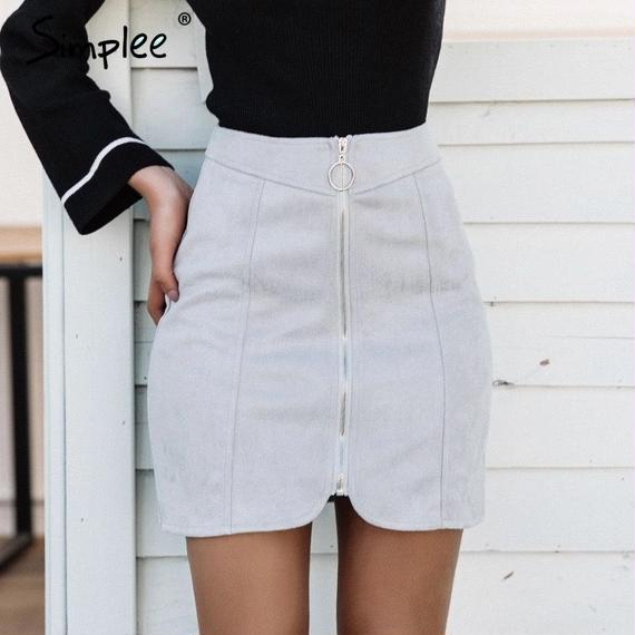 Suede Highwaist Skirt