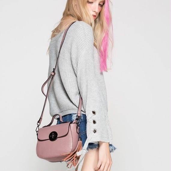 2way Leather Shell Bag