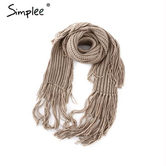 Long Tassels Scarf