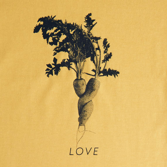 """LOVE"" 人参 / T-shirts R neck / KID 100cm"