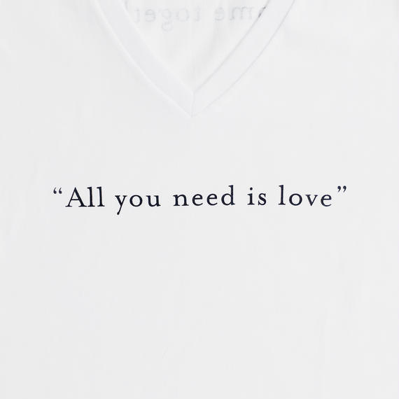 """All you need is love"" ""Come together"" / T-shirts V neck / Mens"