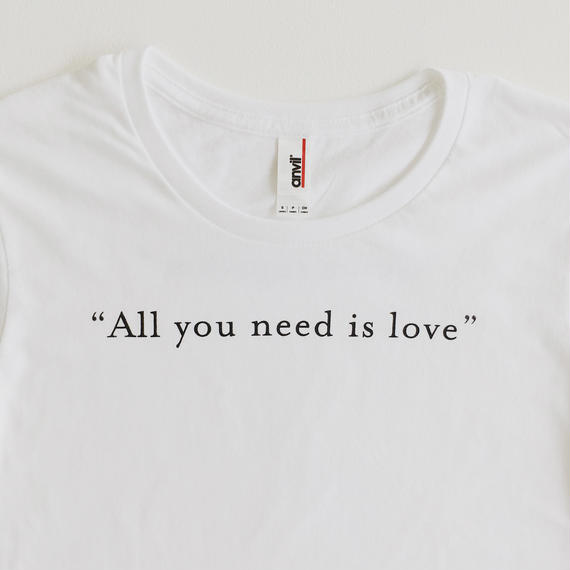 """All you need is love"" ""Come together"" / T-shirts R neck / Leadies"