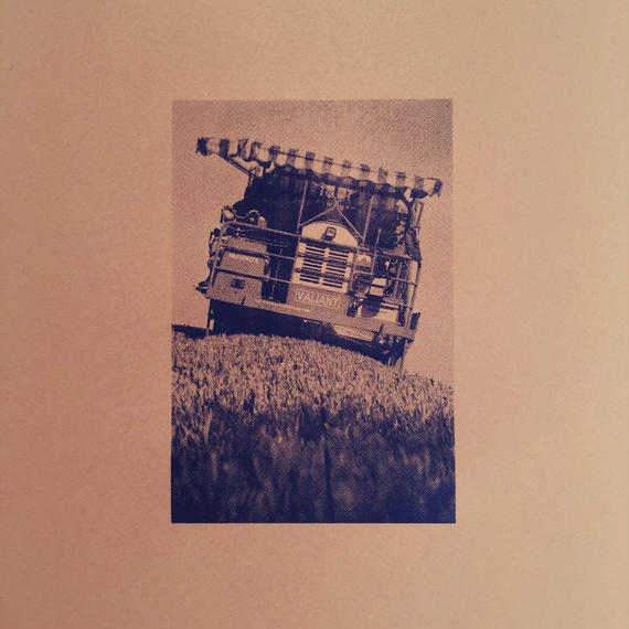 SILKSCREEN W150mm x H225mm / GREEN TEA PICKING MACHINE / black ink on color paper
