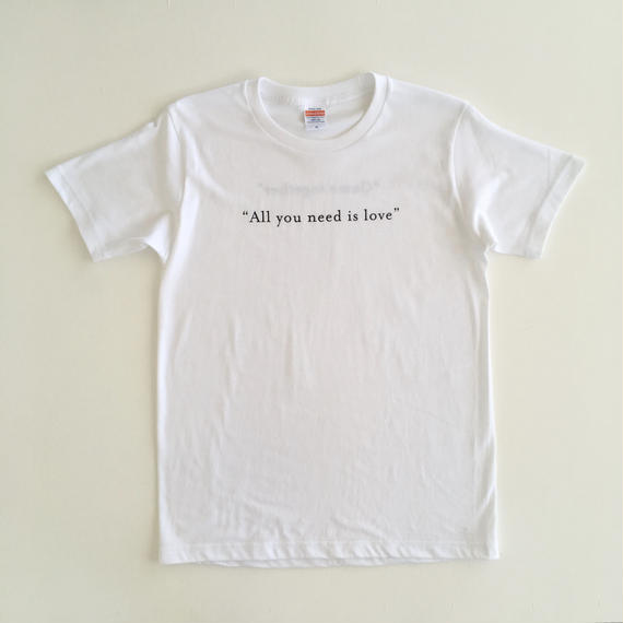 """All you need is love"" ""Come together"" / T-shirts R neck / Mens"