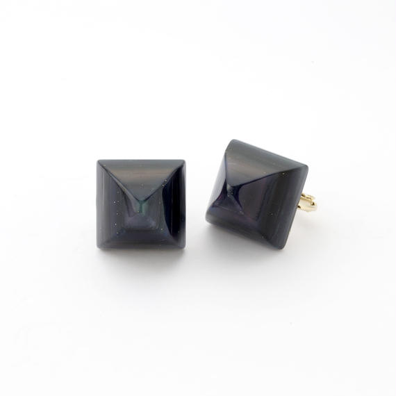 Pyramid Earring(Navy)