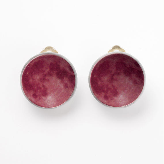 Full Moon Earring (Red)