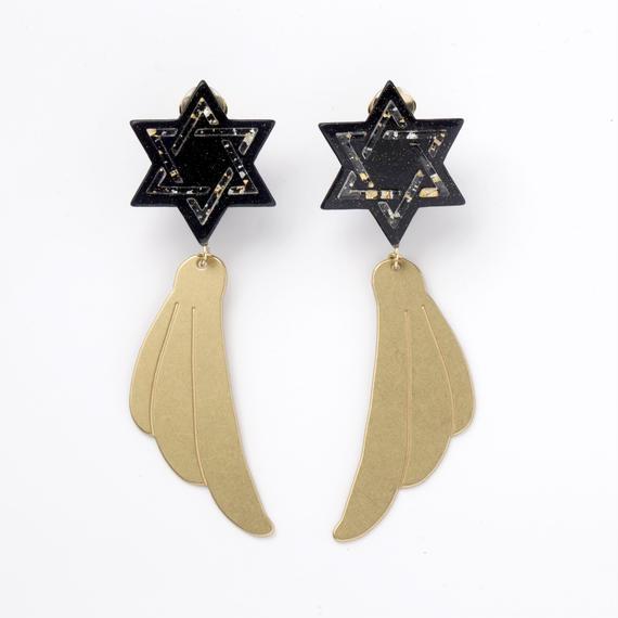 Hexagram Earring (Navy)