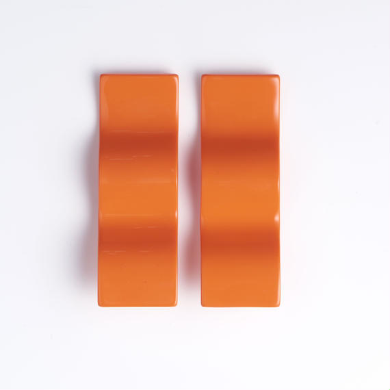 ウェーブピアス / オレンジ