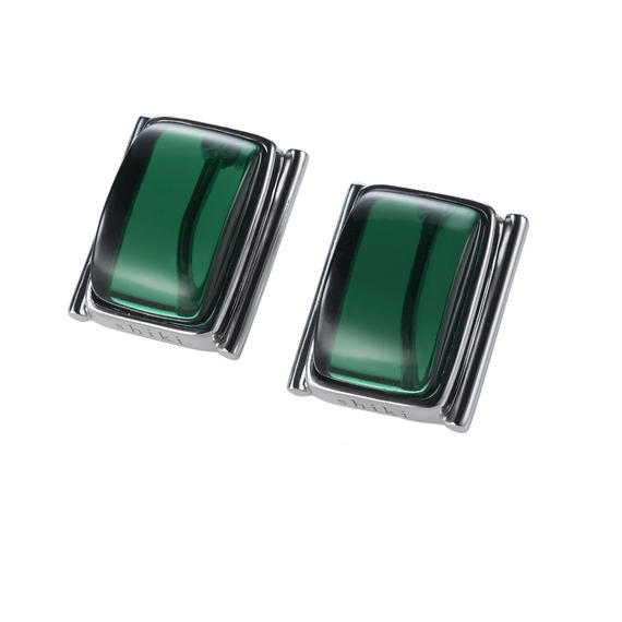 ガラスイヤリング / グリーン