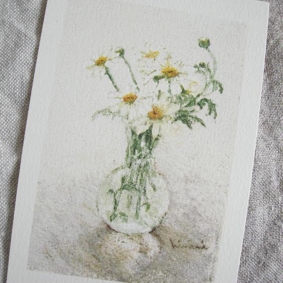 postcard / マーガレットと小瓶