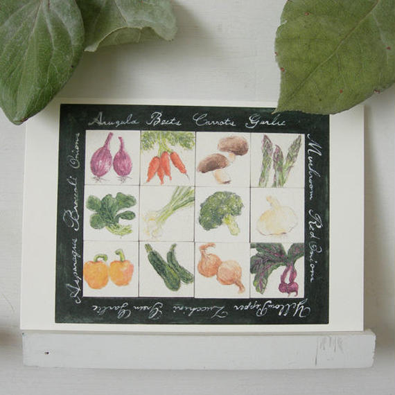 postcard / vegetables